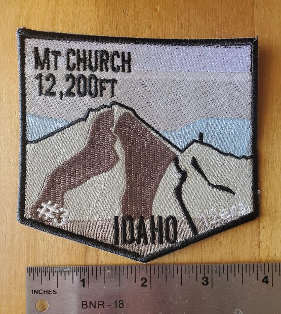 Mt Church with Ruler
