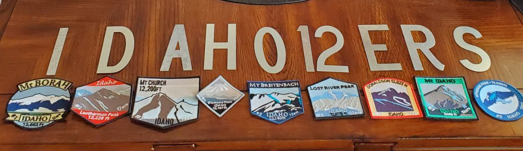 Embroidered Idaho Mountain Climbing Patches